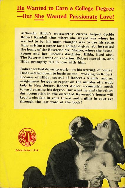 Avon Books 503 - Donald Henderson Clarke - The Housekeeper's Daughter (back)