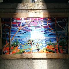 kunstwerk onder spoorbrug Binckhorst
