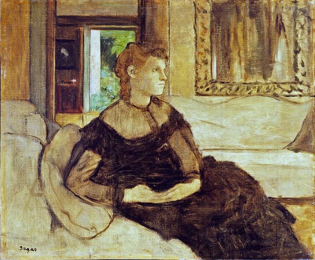 Edgar Degas – Mme Theodore Gobillard née Yves Morisot [1869]