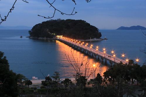 park street bridge light sunset japan canon island rebel seaside kiss aichi x4 gettyimages takeshima gamagori 550d t2i petertoshiro