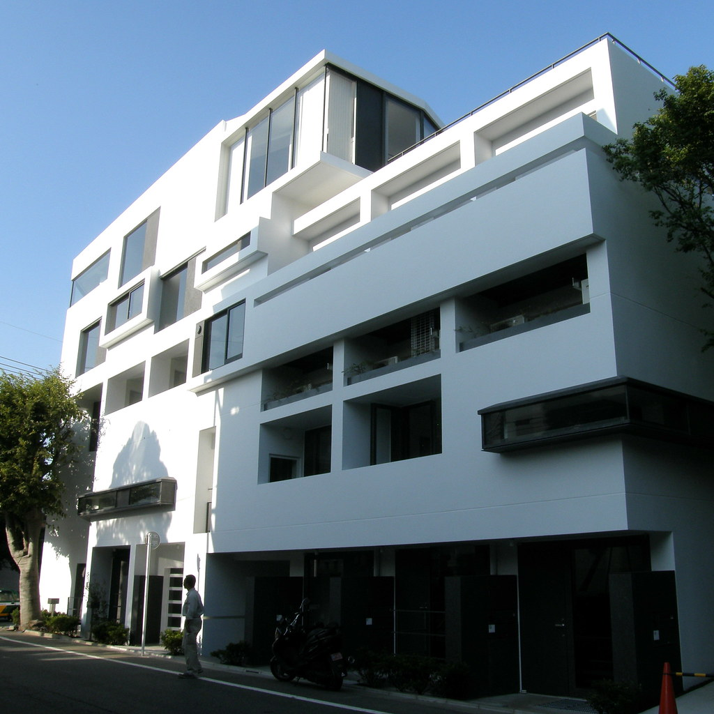 Apartment Block: Modern Apartment Block #4192