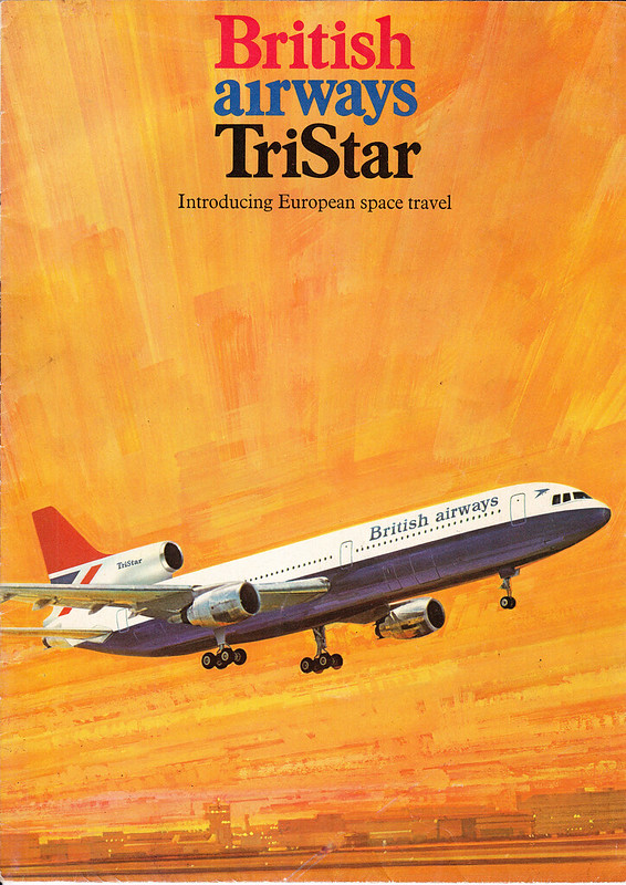 British Airways Tristar brochure - front page [cover]