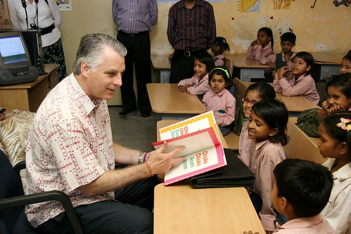 Ambassador Roemer visits education program | by U.S. Embassy New Delhi
