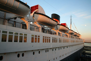 Queen Mary - Looking Aft + Moon | by Miss Shari