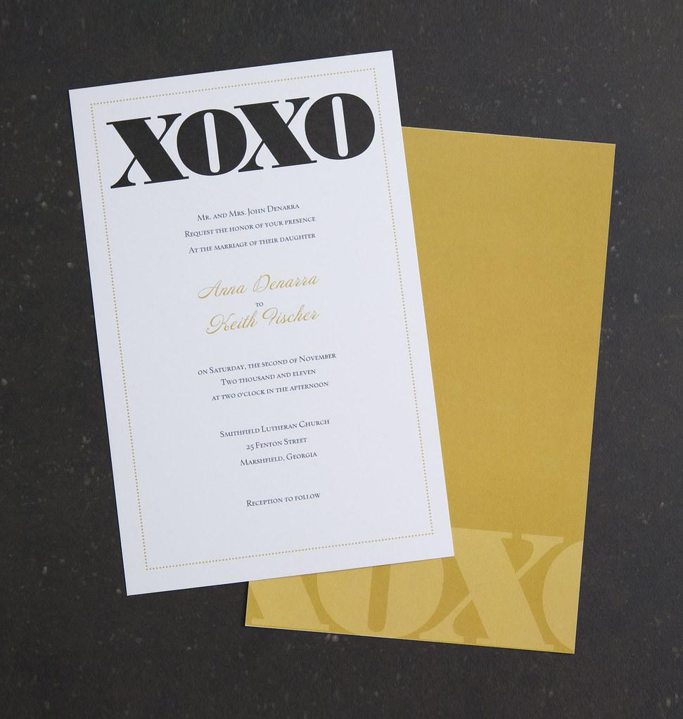 vistaprint wedding invitation  blackgold xoxo 1  flickr