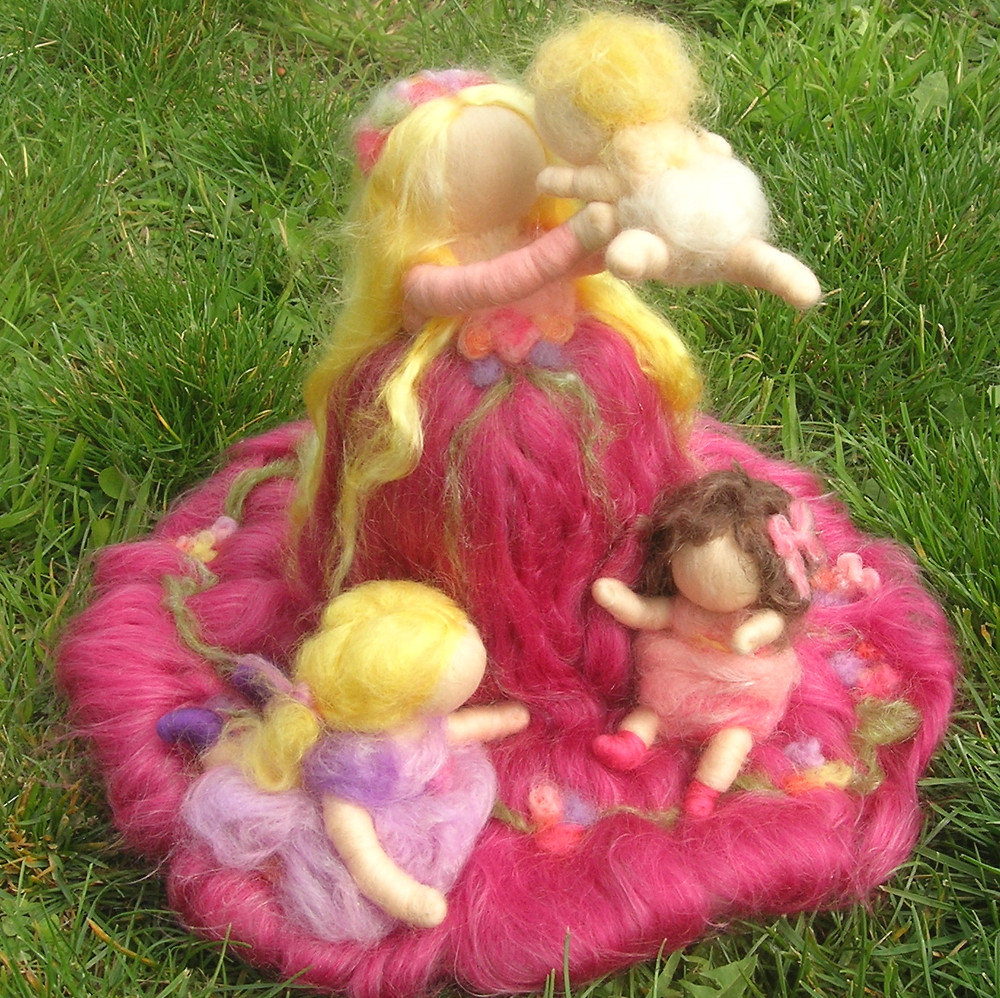 Mother with Child Waldorf Wool
