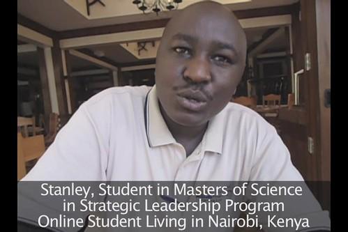 Online Student in Kenya says Leadership Masters is Impressive!