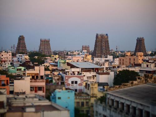 india hindu madurai tamilnadu southindia southasia tiltshift srimeenakshitemplecomplex
