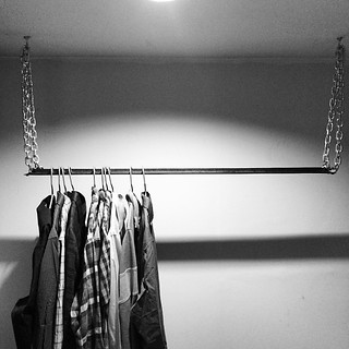 simple and space saving ~$20 DIY hanging closet complete | by limitproof