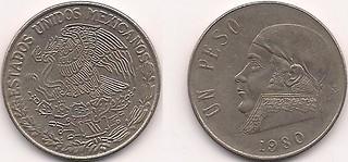 1 peso 1980