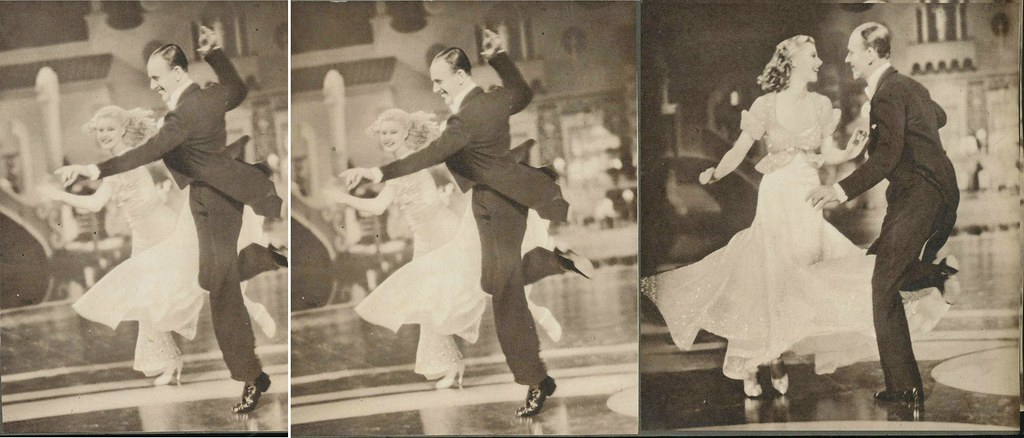 Fred Astaire Ginger Rogers a | from moviestars album 1935