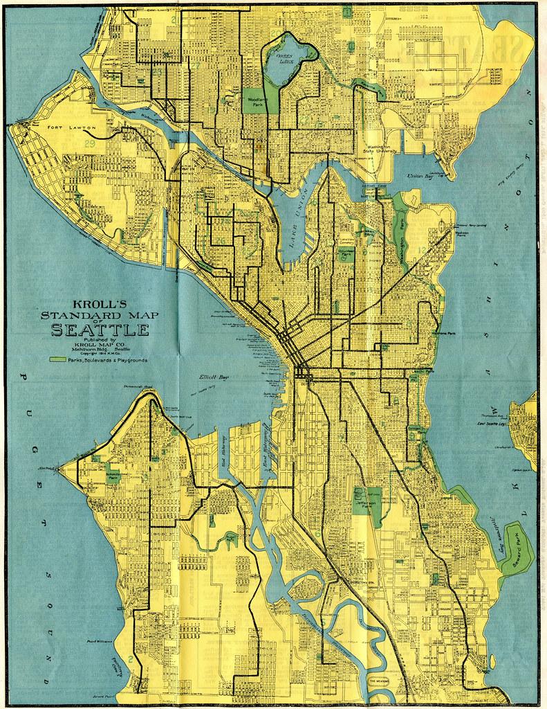 Map 1914.Seattle Map 1914 Kroll S Standard Map Of Seattle Publis Flickr