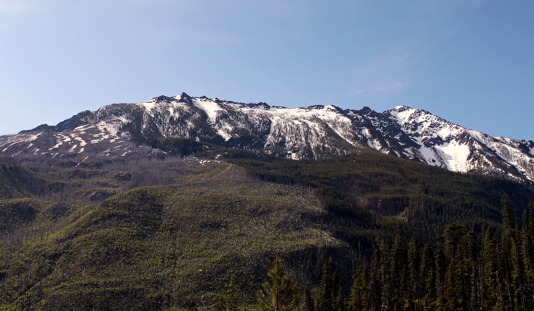 Cannon Mountain from the trail
