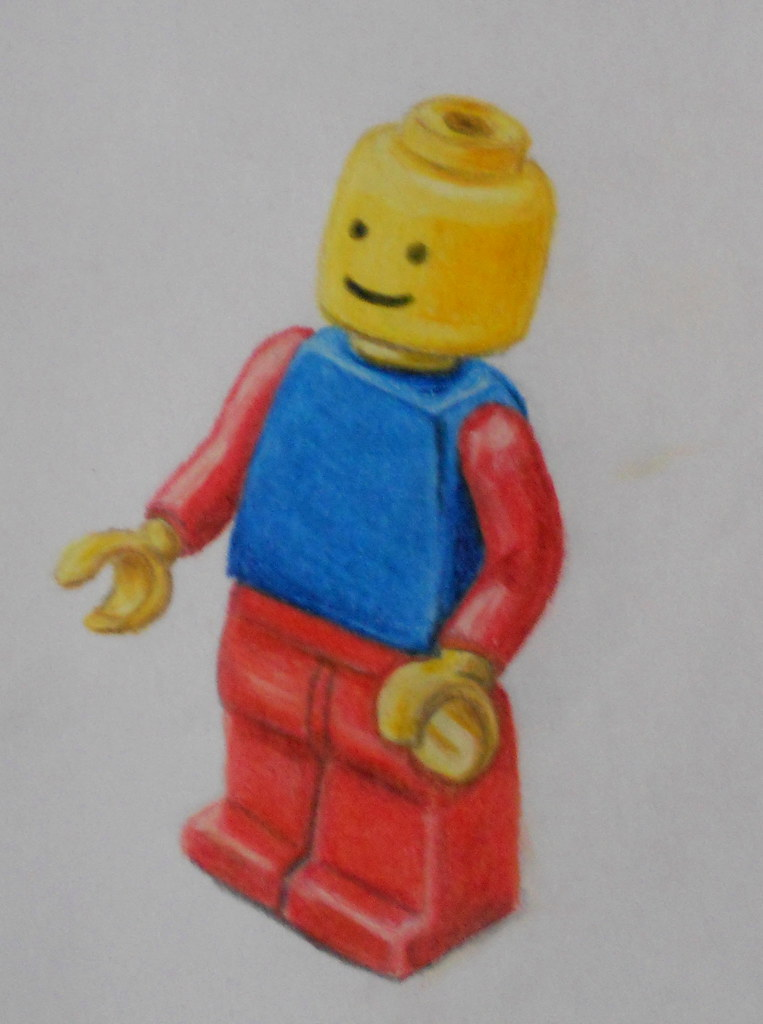 Lego Man | Colour pencil drawing in sketchbook  | Becky | Flickr