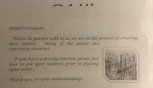 incorrect prices