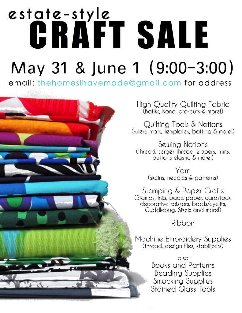 Craft Sale Flyer 002 Thehomesihavemade Flickr