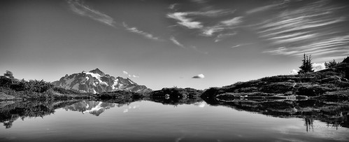 pacificnorthwest northcascades mtshuksan reflection tarn washington mountains mtbakerwilderness cirrus glaciers