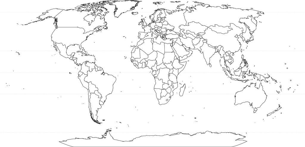 Weltkarte 2011 07 Ohne Flusse Meingeolehrer Flickr