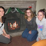 Stephanie Stanton, Rachel Luttrell, and Nora Johnson, student workers, Christmas 2010