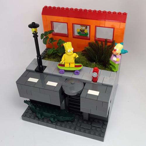 Geeky Flower Pots: Streaking Bart Simpson