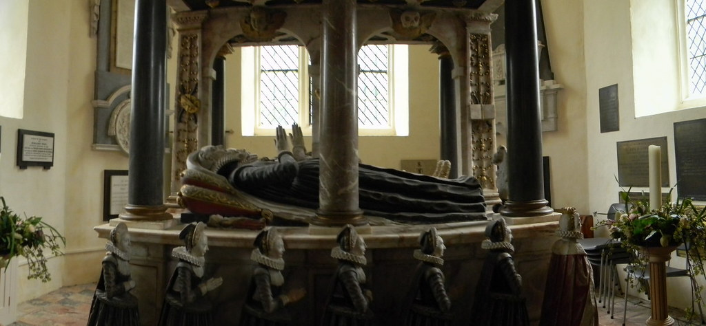Knollys tomb (Stitched panorama) Shiplake to Henley Rotherfield Greys church