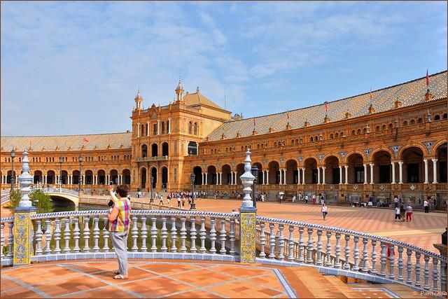 Sevilla :  Plaza de España  - 2 -