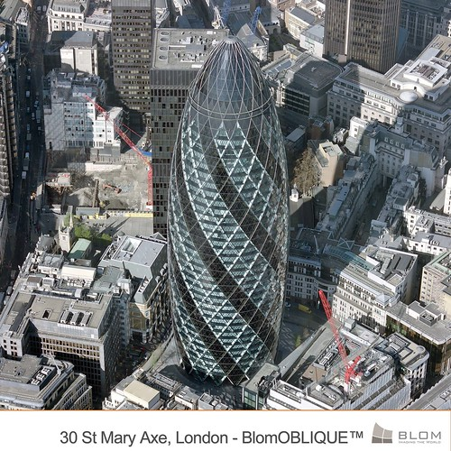 30 St Mary Axe, London (Gherkin) - BlomOBLIQUE | by Blom Group