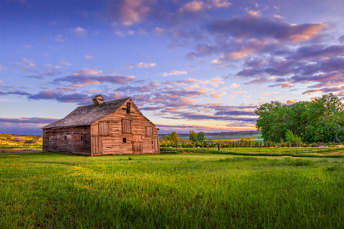 wood old sunset summer sky sun color june architecture clouds barn rural landscape golden evening farm country rustic hour rundown