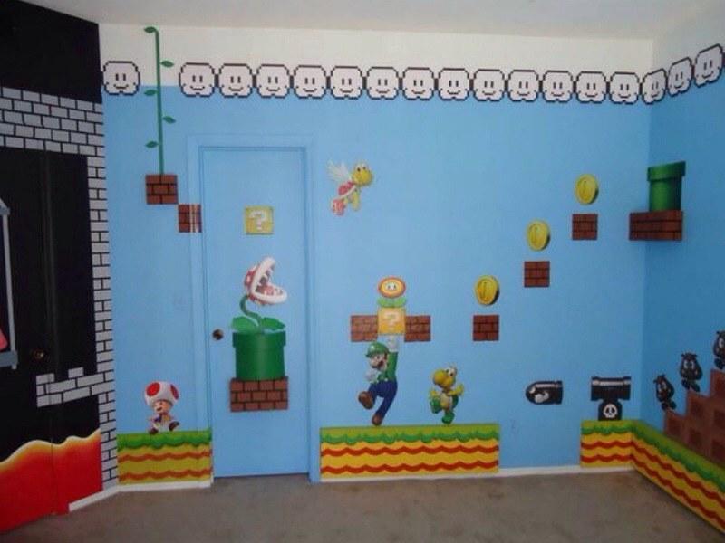 Super Mario Bros. Theme Bedroom | Super Mario Bros. Theme Be ...