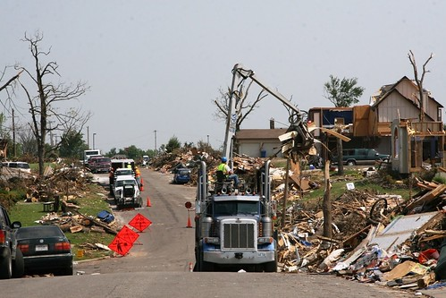 Joplin, Mo., June 7 - Contracted haul trucks work to remove millions of cubic yards of debris [Image 2 of 5] | by DVIDSHUB