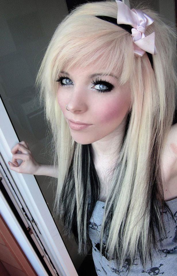 Обычные девушки блондинки эмо — img 12