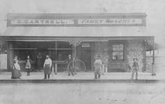 Gartrell Butcher shop  c1900 [possibly 1907]