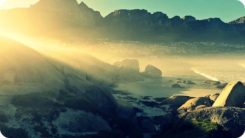 ocean light sea beach nature sunshine sunrise rocks capetown cliché hcs
