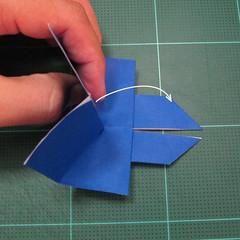 วิธีการพับกระดาษเป็นรูปกระต่าย แบบของเอ็ดวิน คอรี่ (Origami Rabbit)  017