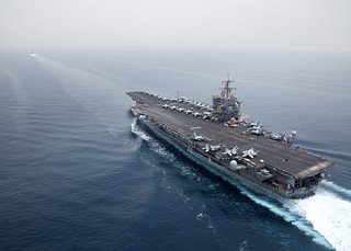 USS Enterprise (CVN 65) is underway behind USS Leyte Gulf | by Official U.S. Navy Imagery