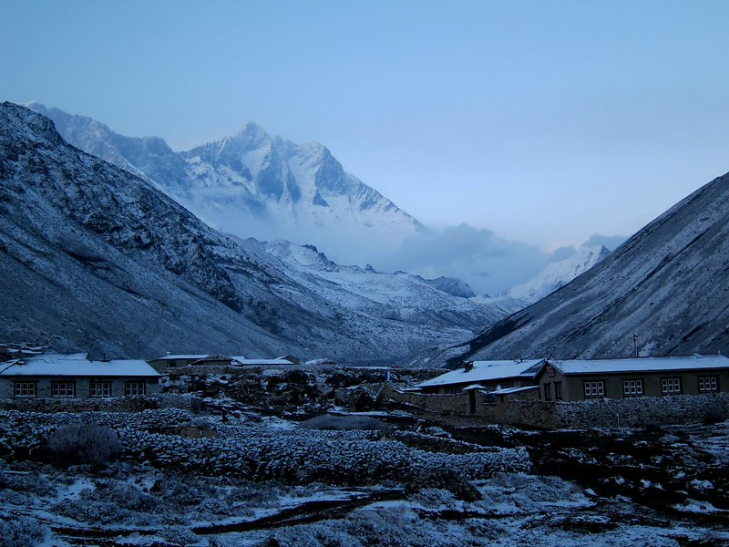Dusk in Dingboche