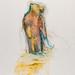 """""""Studio di animale fermato"""" tecnica mista su carta, 35x50cm, 2011"""