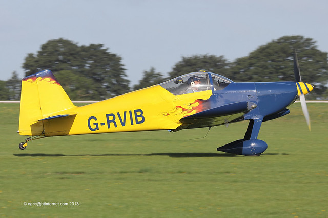G-RVIB - 2002 build Vans RV-6, arriving at Sywell during the 2013 LAA Rally