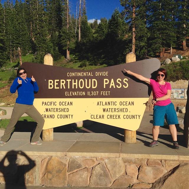 Berthoud Pass, Tina et moi