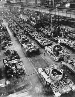 Valentine Tanks on the Assembly Line
