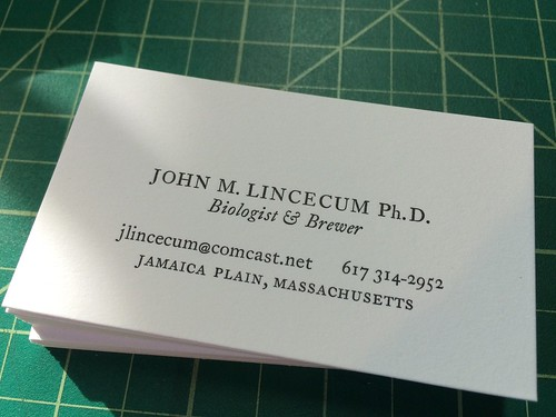 biz cards | by interrobang letterpress
