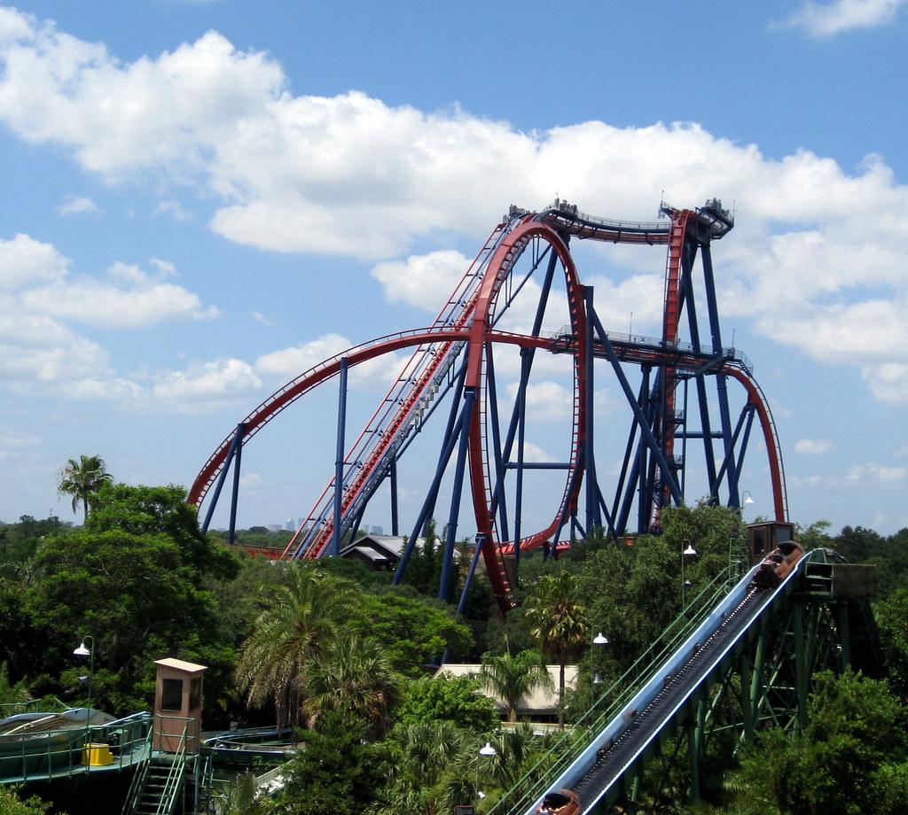 Busch Gardens   Skyride   View Of SheiKra Roller Coaster ...
