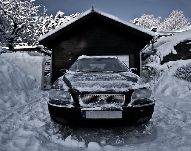 Volvo in odd perspective