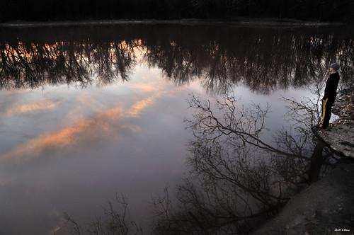 trees sunset sky newyork reflection alex water landscape nikon saugerties beautifulnature d90