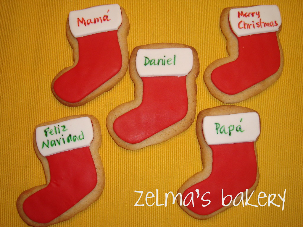 Sugar Cookies Stockings Sugar Cookies With Fondant And R Flickr