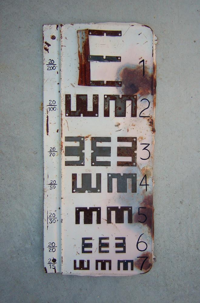 """""""Tumbling E"""" Eye Chart"""