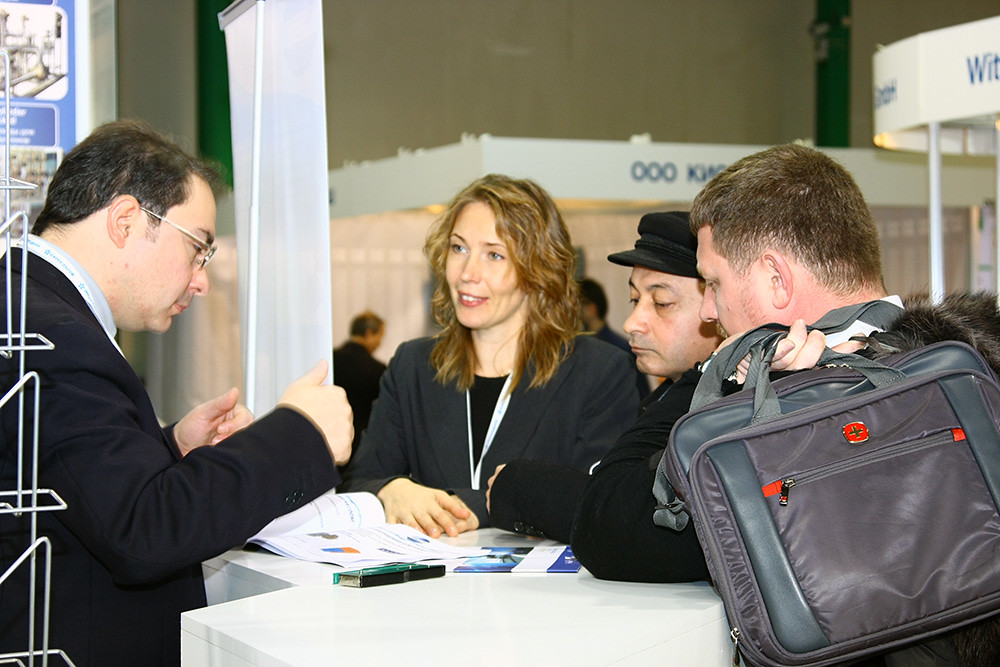 The booth of a group of italian companies: SIAD S p A , VR… | Flickr