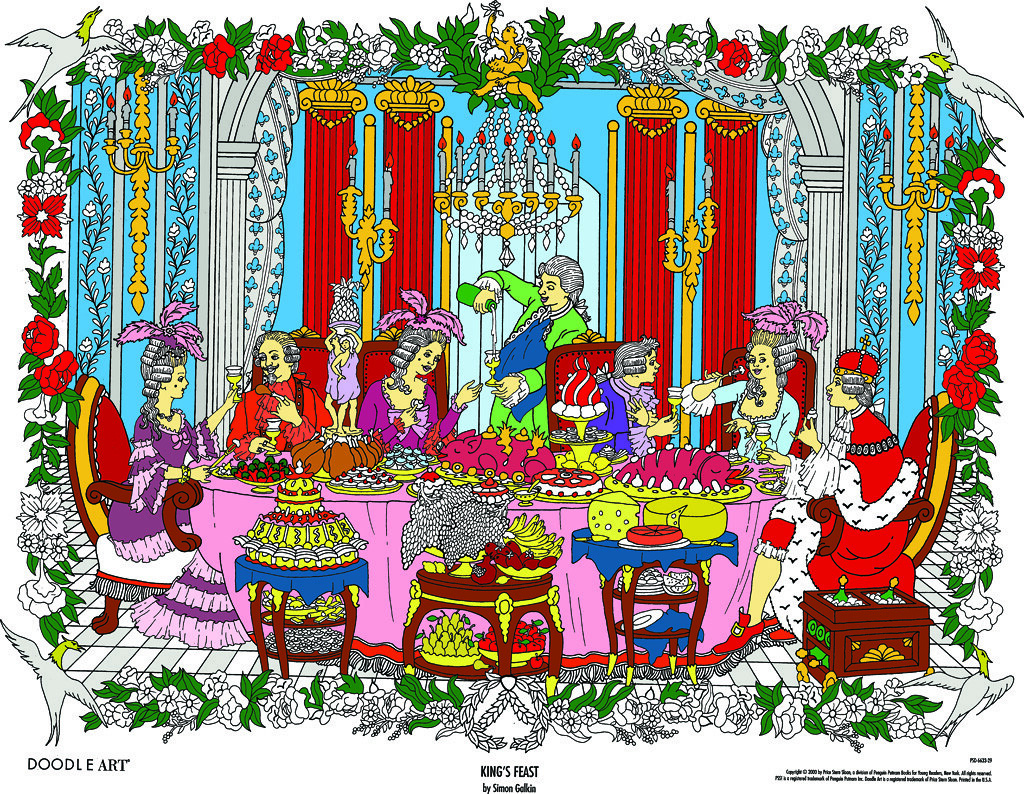 Doodle Art King\'s Feast Coloring Page poster | This impressi… | Flickr