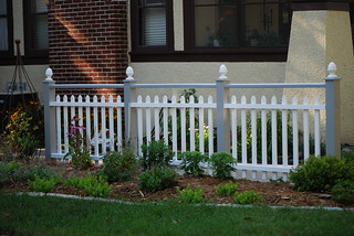 Painted decorative fence | by Field Outdoor Spaces