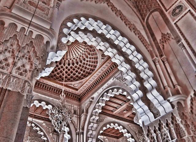 Mosque ceiling, Casablanca